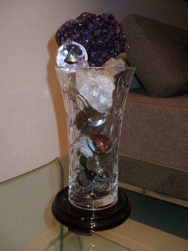 Crystal Leaves Vase