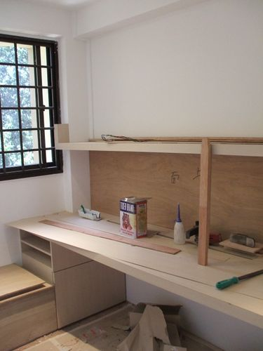 Study Table and Window Low Bench