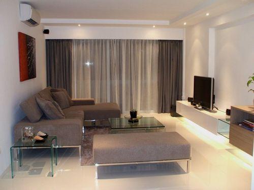 Sheer n Dress Curtains in Living Room