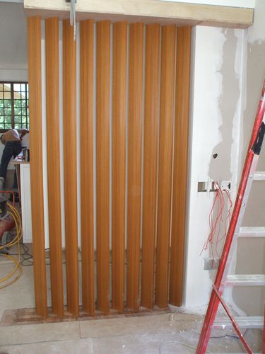 Master Bedroom Wood Divider - at Entrance
