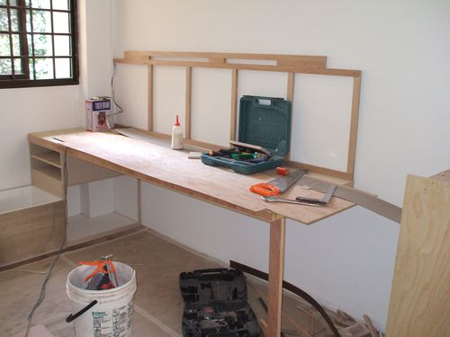 Study Table and Low Window Bench