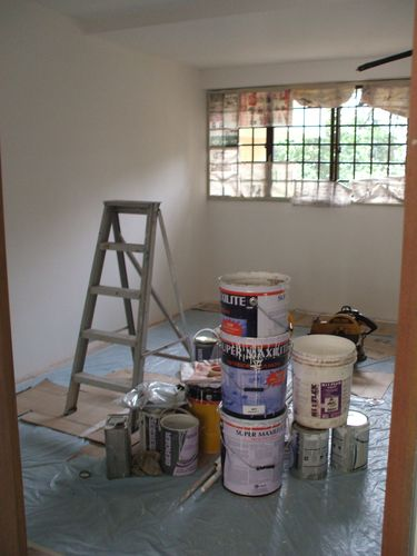 Painted Walls in Guest Room