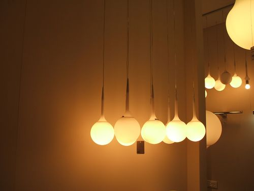 Eight Pendant Balls Light