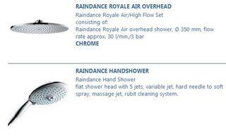 Hansgrohe Rain Shower Pipes