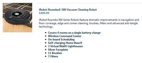 Roomba 580
